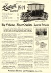 1914 10 DETROIT Electric Big Volume–Finer Quality–Lower Prices Anderson Electric Car Company Detroit, MICH COUNTRY LIFE IN AMERICA October 1913 9.25″x13.5″ page 1