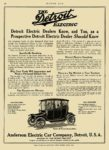 1914 11 6 DETROIT Electric Detroit Electric Dealers Know Anderson Electric Car Company Detroit, MICH MOTOR AGE November 6, 1913 8.5″x12″ page 50