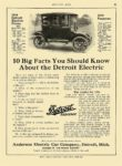1914 12 18 DETROIT Electric 10 Big Facts You Should Know Anderson Electric Car Company Detroit, MICH MOTOR AGE December 18, 1913 8.25″x12″ page 67