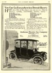 1913 6 14 DETROIT Electric You Can Go Everywhere in a Detroit Anderson Electric Car Company Detroit, MICH The Literary Digest June 14, 1913 8.25″x11.5″ page 1341