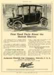 1914 DETROIT Electric First Hand Facts About The Detroit Anderson Electric Car Company Detroit, MICH MOTOR AGE 1913 8.5″x12″ page 71