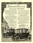 1915 10 3 DETROIT Electric Announcing 1915 Models The Anderson Electric Car Co. Detroit, MICH THE SATURDAY EVENING POST October 3, 1914 10.5″x14″ page 59