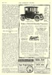 1914 7 11 DETROIT Electric Take a Detroit Electric Vacation Anderson Electric Car Company Detroit, MICH The Literary Digest July 11, 1914 9″x12″ page 75