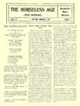 1905 2 15 Electric Article Electric Vehicle Charging Facilitated THE HORSELESS AGE February 15, 1905 University of Minnesota Library 8.75″x11.5″ page 209