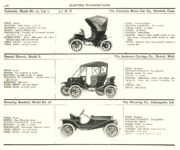 1910 ELECTRIC PLEASURE CARS. COLUMBIA     DETROIT     WAVERLEY MoToR's 1910 MoToR CAR DIRECToRY Published By MoToR, New York 10″x7.25″ page 108