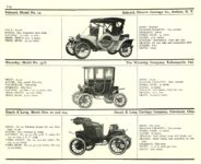 1910 ELECTRIC PLEASURE CARS. BABCOCK     BAKER     OHIO MoToR's 1910 MoToR CAR DIRECToRY Published By MoToR, New York 10″x7.25″ page 115