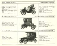 1910 ELECTRIC PLEASURE CARS. KIMBALL     CLARK     COLUMBUS MoToR's 1910 MoToR CAR DIRECToRY Published By MoToR, New York 10″x7.25″ page 118