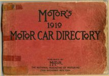 MoToR's 1910 MoToR CAR DIRECToRY Published By MoToR, New York THE NATIONAL MAGAZINE OF MOTORING 10″x7.25″ Front cover