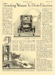 1913 10 23 ELECTRIC Vehicle Article Teaching Women To Drive Electrics MOTOR AGE October 23, 1912 8.25″x12″ page 28