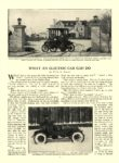 1913 1 ELECTRIC Vehicle Article WHAT AN ELECTRIC CAR CAN DO COUNTRY LIFE IN AMERICA January 1913 9.75″x13.75″ page 23