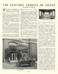 1913 1 ELECTRIC Vehicle Article THE ELECTRIC VEHICLE OF TO-DAY The House Beautiful January 1913 9.25″x12.5″ page 56