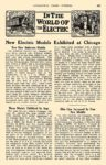 1913 3 ELECTRIC Vehicle Article IN THE WORLD OF THE ELECTRIC New Electric Models Exhibited at Chicago AUTOMOBILE TRADE JOURNAL March 1913 6.25″x9.5″ page 371