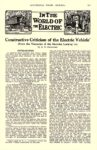 1913 9 ELECTRIC Vehicle Article IN THE WORLD OF THE ELECTRIC Constructive Criticism of the Electric Vehicle AUTOMOBILE TRADE JOURNAL September 1913 6.25″x10″ page 227