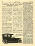1915 10 21 ELECTRIC Vehicle Article Co-operation Voiced at E.V.A. Meeting Function of the Electric Garage MOTOR AGE October 21, 1915 8.5″x12″ page 18