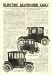 1916 2 Electric Passenger Cars 27 Models MoToR February 1916 10″x14″ page 62