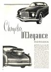 1953 CHRYSLER Chrysler D'Elegance and Plymouth XX 500 Article 1953 CARS of TODAY BY EDITORS OF SPEED AGE MAGAZINE Washington, D.C. 8.5″x11″ page 80
