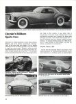 1955 CHRYSLER Falcon Chrysler's Stillborn Sports Cars: Excitement From Exner CONSUMER GUIDE Prototype Cars Cars That Never Were Classic Car IND 37629 Feb 1981 8.25″x11″ page 30