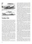 TURBINE TALE: 25 years of Experimental Chryslers CONSUMER GUIDE Prototype Cars Cars That Never Were Classic Car IND 37629 Feb 1981 8.25″x11″ page 34