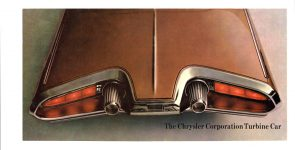 1962 CHRYSLER Turbine Car The Story Behind the Car Chrysler Corporation 15″x7.5″ Front & Back covers