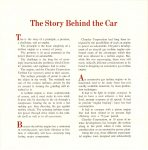 1962 CHRYSLER Turbine Car The Story Behind the Car Chrysler Corporation 7.5″x7.5″ page 1