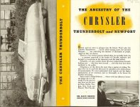 Chrysler's Thunderbolt and Newport New Milestones in Airflow Designs Dated: March 1941 CS. 1021 200M-3-41 5.5″x8.5″ pages 1 & 2