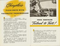 Chrysler's Thunderbolt and Newport New Milestones in Airflow Designs Dated: March 1941 CS. 1021 200M-3-41 5.5″x8.5″ pages 7 & 8