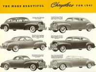 Chrysler's Thunderbolt and Newport New Milestones in Airflow Designs Dated: March 1941 CS. 1021 200M-3-41 5.5″x8.5″ pages 9 & 10