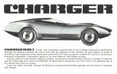 1968 DODGE CHARGER III CHRYSLER MOTORS CORPORATION 8.5″x5.5″ Inside left