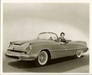 1955 DODGE Fire Granada Convertible 10″x8″ black & white photograph