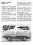 1960 PLYMOUTH XNR Chrysler's Stillborn Sports Cars: Excitement From Exner CONSUMER GUIDE Prototype Cars Cars That Never Were Classic Car IND 37629 Feb 1981 8.25″x11″ page 32