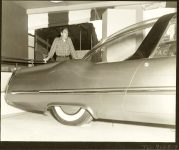 1953 LINCOLN XL-500 9.5″x7.5″ black & white photograph TD-9126-9