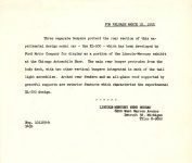 1953 3 12 LINCOLN XL-500 Press Release dated March 12, 1953 For Neg. 101169-4 943b 8.5″x7.25″