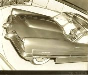 1953 LINCOLN XL-500 9.5″x7.5″ black & white photograph TD-9126-2a