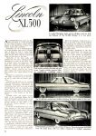 1953 FORD XL 500 Article 1953 CARS of TODAY BY EDITORS OF SPEED AGE MAGAZINE Washington, D.C. 8.5″x11″ page 82