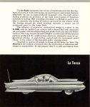 1958 FORD Concept Cars WORLD OF TOMORROW STYLING La Tosca FORD MOTOR COMPANY Folded: 6″x3.5″ Unfolded: 6″x21″ Outside top