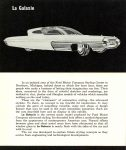 1958 FORD Concept Cars WORLD OF TOMORROW STYLING La Galaxie FORD MOTOR COMPANY Folded: 6″x3.5″ Unfolded: 6″x21″ Outside top