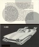1958 FORD Concept Cars WORLD OF TOMORROW STYLING X-1000 FORD MOTOR COMPANY Folded: 6″x3.5″ Unfolded: 6″x21″ Outside top