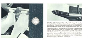 1961 FORD Gyron Styling Office FORD MOTOR COMPANY Dearborn, MICH Folded: 9″x3.25″ Unfolded: 22″x3.25″