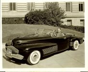 1938 BUICK Y-Job with Harley J. Earl 10″x8″ black & white photograph