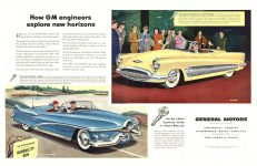 """1952 6 14 GENERAL MOTORS 1952 """"More and Better Things for More People"""" XP-300 THE SATURDAY EVENING POST June 14, 1952 10.5″x13.5″"""
