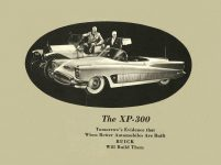 """ca. 1952 BUICK XP-300 The XP-300 The """"Inside Story"""" of Buick's Experimental Laboratory on Wheels 7.75″x5.75″ Back"""