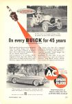 1953 9 BUICK and a 1908 BUICK AC SPARK PLUGS POPULAR MECHANICS September 1953 6.5″x9.25″ page 275