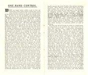 1903 DURYEA Motor Vehicle ONE-HAND CONTROL WATERLOO MOTOR WORKS Waterloo, IOWA 3.5″x6″ folded pages 1 & 2
