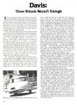 1949 DAVIS 3-Wheeler Three Wheels Weren't Enough CONSUMER GUIDE Prototype Cars Cars That Never Were Classic Car IND 37629 Feb 1981 8.25″x11″ page 38