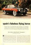 1955 PEGASO spain's fabulous flying horse by john wheelock freeman color photography by fenno jacobs TRUE THE MAN'S MAGAZINE 1955 AUTOMOBILE YEARBOOK 8.5″x11.25″ page 50