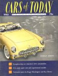 1953 CARS of TODAY BY EDITORS OF SPEED AGE MAGAZINE Washington, D.C. 8.5″x11″ Front cover