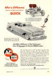 1954 3 BUICK and a 1903 BUICK AC SPARK PLUGS POPULAR MECHANICS March 1954 6.5″x9.25″ page 249