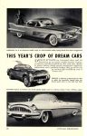 1954 THIS YEAR'S CROP OF DREAM CARS POPULAR MECHANICS March 1954 6.5″x9.25″ page 88