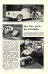 1954 KAISER Darrin 161 Kaiser Plastic Sportster Goes Into Production POPULAR MECHANICS March 1954 6.5″x9.25″ page 87