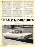 1978 CREATIVE INDUSTRIES Super Secret Car Builders By Leon Dixon CAR CLASSICS December 1978 8″x10.75″ page 58